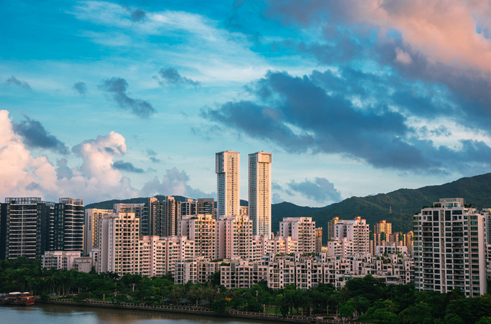 The Huafa New Town residential area of Zhuhai, Guangdong province, is seen in June 2017. Photo: VCG