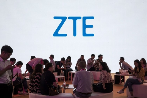 ZTE Corp. establishes a presence at the 2018 Mobile World Congress in Shanghai on June 28. The U.S. Commerce Department has reached a deal with ZTE Corp., reversing the ban on its sourcing parts from the U.S. ZTE must change its board and management, pay a fine of $1 billion and deposit $400 million in escrow as well as obeying a U.S. compliance team. Photo: VCG