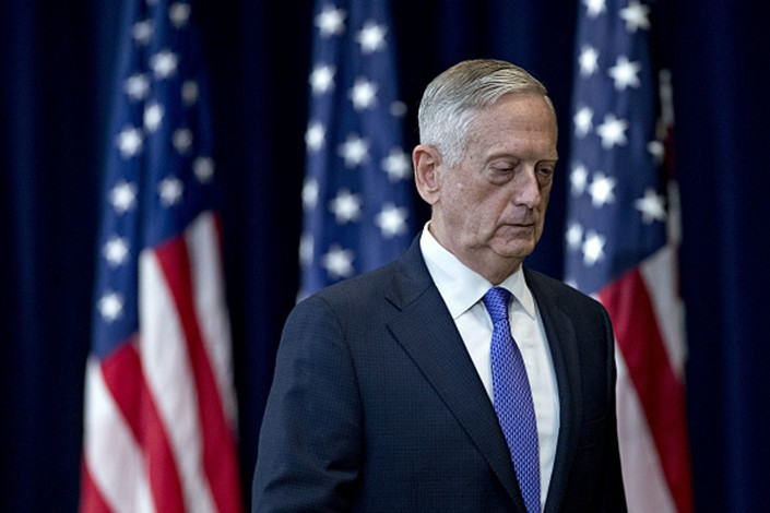 U.S. Secretary of Defense James Mattis turned in his resignation to U.S. President Donald Trump last week. Photo: Bloomberg