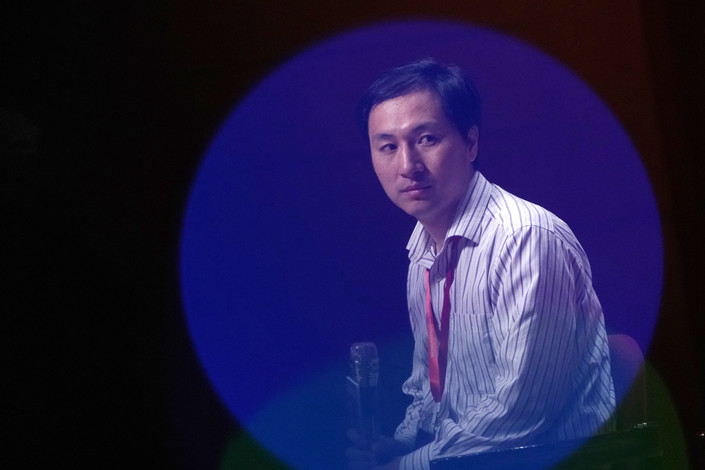 Chinese Scientist He Jiankui speaks at the Human Genome Editing Summit in Hong Kong. Photo: Bloomberg