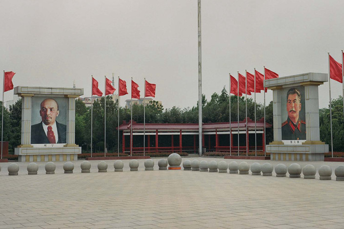 A corner of the town square in Nanjie, Henan province. Photo: Shi Yangkun/Sixth Tone