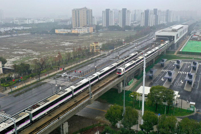 Multibillion-dollar intercity rail plans in Jiangsu and Anhui provinces are the latest in a slew of rail projects that the Chinese central government has approved in recent months. Photo: VCG