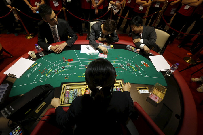 The Global Gaming Expo Asia is held in Macau on May 16. Photo: VCG