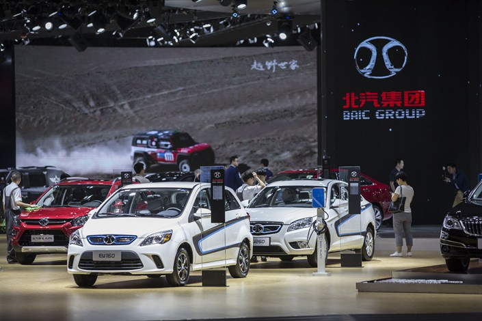 BAIC Motor Corp. shares spiked in Hong Kong on Tuesday. Photo: Bloomberg