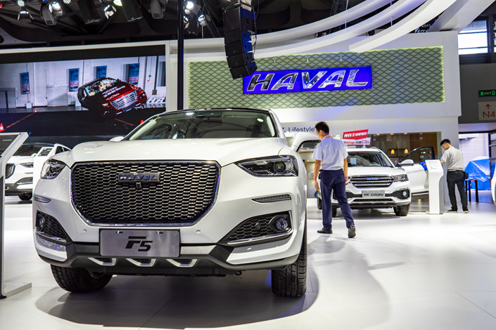 Great Wall Motor's Haval cars on display at a Shanghai motor show on Sept. 28. Photo: IC