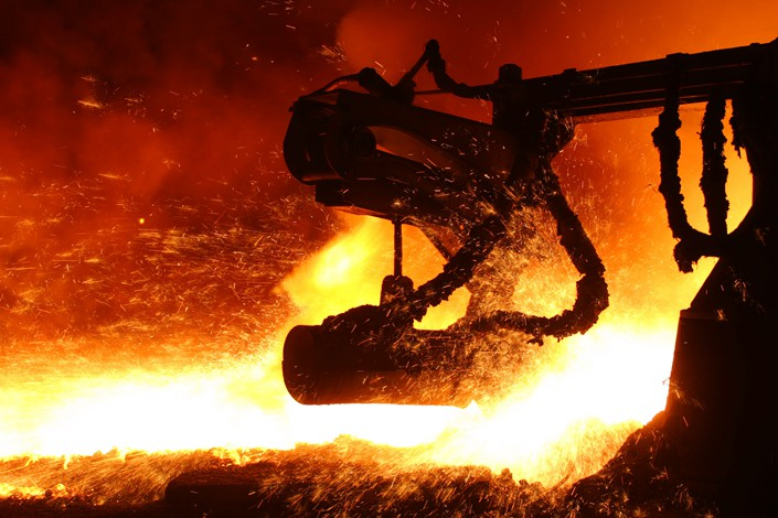 Steel is made at a Chongqing plant in October 2014. Photo: VCG