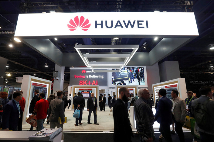A Huawei booth is seen at the Consumer Electronics Show 2019 in Las Vegas, Nevada, on Jan. 9. Photo: VCG
