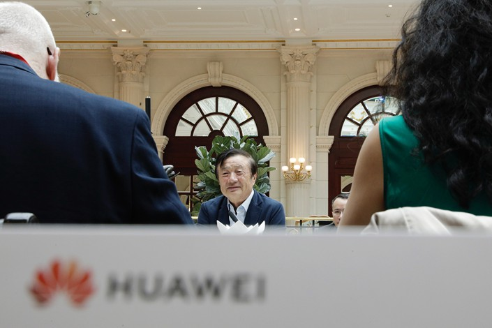 Ren Zhengfei, founder and CEO of Huawei Technologies Co. Ltd., answers questions during an interview at the company's headquarters in Shenzhen, Guangdong province, on Jan. 15. Photo: VCG