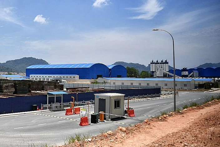A deserted China Communications Construction Co, site in Pahang, Malaysia last year. Photo: Straits Times/Ariffin Jamar