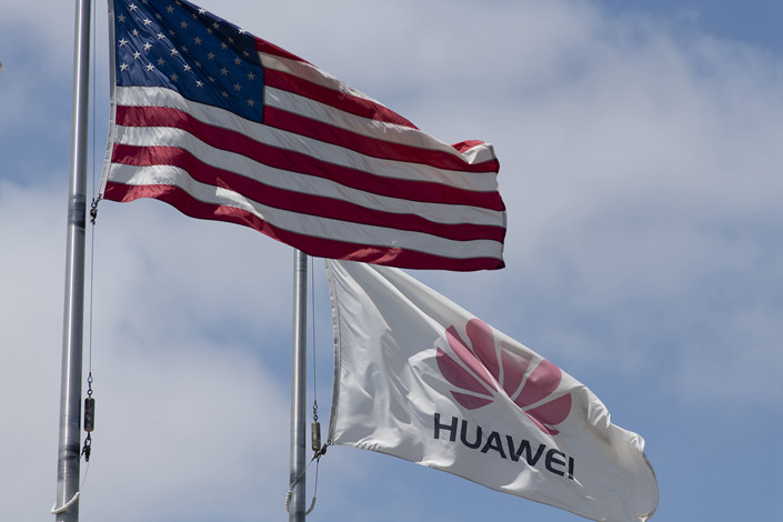 The Huawei logo flutters above the company's office in Santa Clara, California, the U.S., on June 6. Photo: VCG