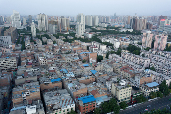 The largest shantytown being demolished is in Dingbai village in Xi'an, Shaanxi province. Photo: IC