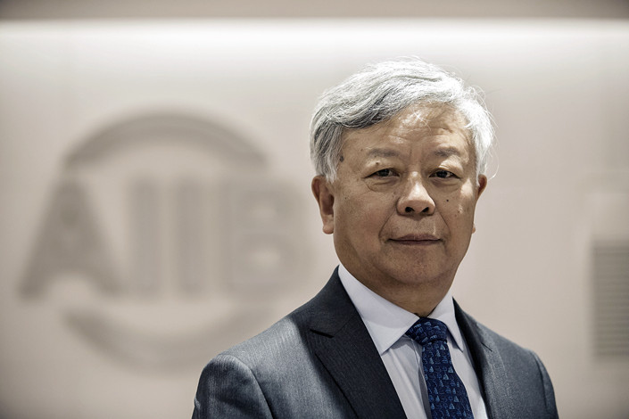 Jin Liqun, president of the Asian Infrastructure Investment Bank, said that the bank's investing more in China will help it improve its asset quality. Photo: VCG