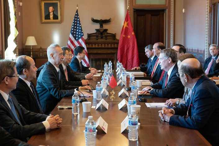 Chinese delegates led by Vice Premier Liu He held talks with U.S. officials led by Trade Representative Robert Lighthizer in Washington on Jan. 30 and 31. Photo: USTR
