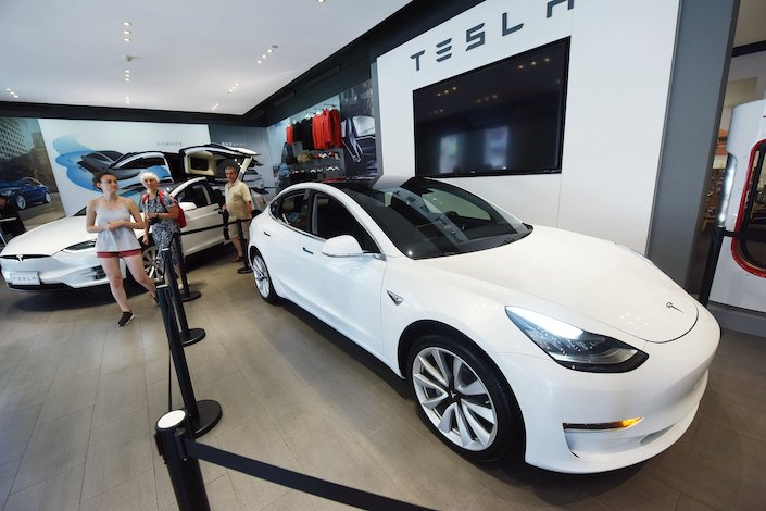 Tesla is expected to roll out its first China-made Model 3 by the end of the year. Photo: VCG