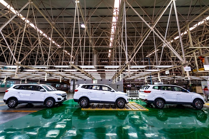 Lifan new energy vehicle production line in the southwestern city of Chongqing. Photo: IC
