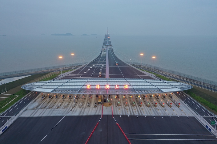 The 55-kilometer Hong Kong-Zhuhai-Macau Bridge that was opened in October. Photo: VCG