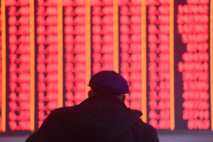 The benchmark Shanghai Composite Index was heading toward a technical bull market on Monday amid positive signs from trade talks with the U.S. Photo: IC