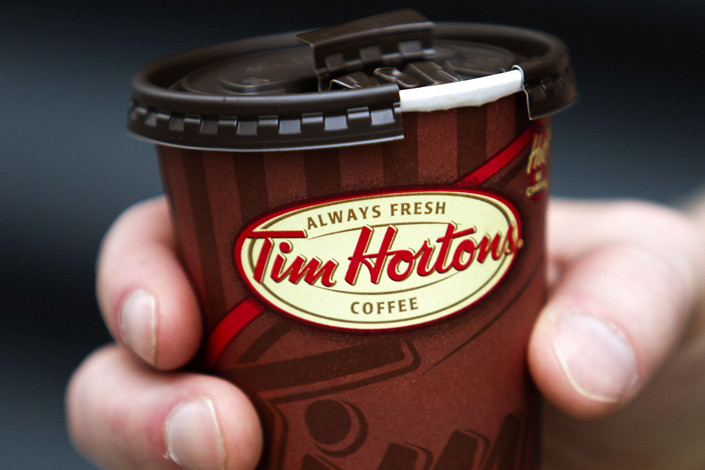 Canadian chain Tim Hortons has launched its first China store. Photo: Bloomberg