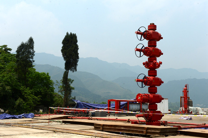 A shale gas well in Yibin, Sichuan province. Photo: VCG