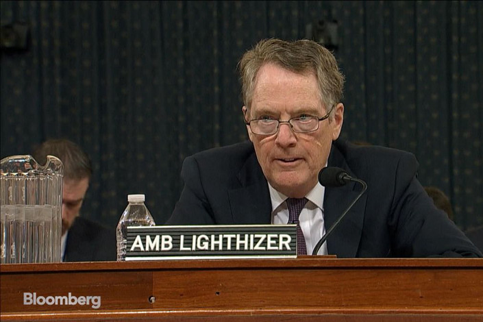 U.S. Trade Representative Robert Lighthizer. Photo: Bloomberg