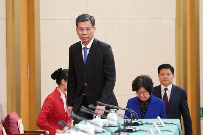 Minister of Finance Liu Kun in Beijing on March 7. Photo: VCG