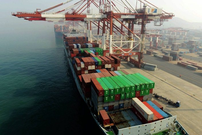 A port in Qingdao, Shandong province. Photo: VCG.