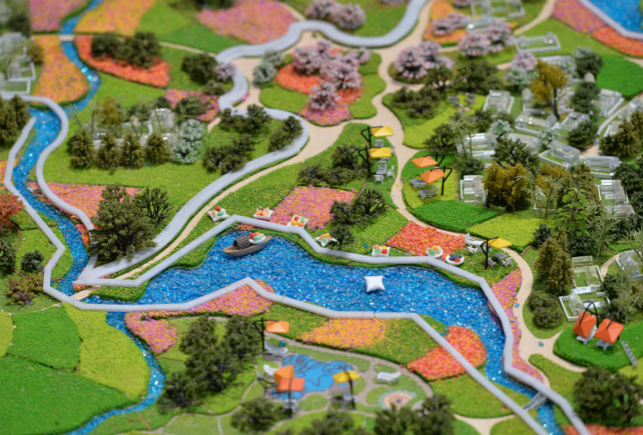 Model of a property development in the city of Chengdu, Sichuan province. Photo: VCG