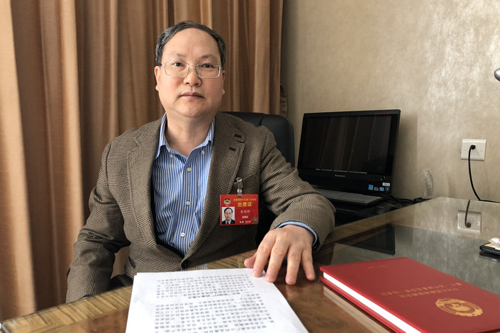 Chinalco General Manager Yu Dehui. Photo: Provided by Yu Dehui