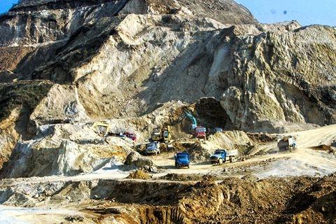 One of China's rare earth mining operations. Photo: VCG