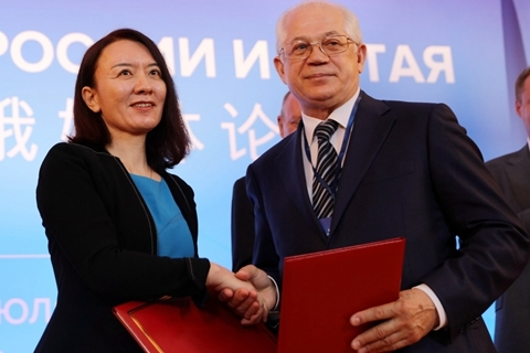 Lu Xinning (left). Photo: VCG