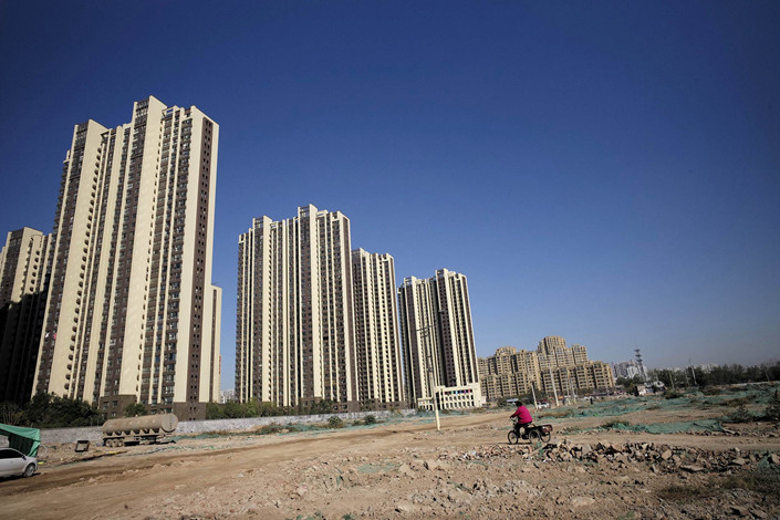 Residential towers under development in the area surrounding the city of Heze, East China's Shandong province, in October 2017 . Photo: VCG