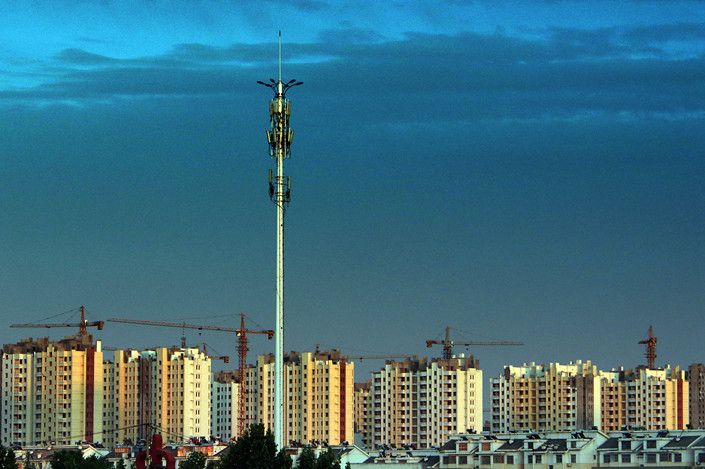 Residential buildings under construction in Jinan, East China's Shandong province. Photo: VCG