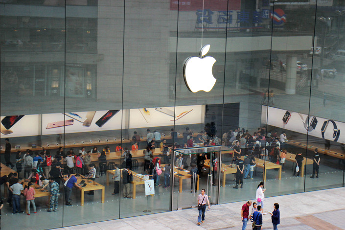 An Apple store in the western city of Chongqing on Sept. 29. Photo: VCG