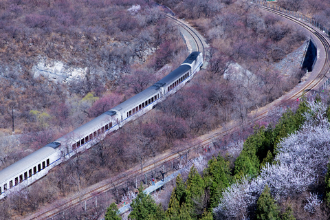 Two railway lines are seen from above near the Juyong Pass. Photo: IC