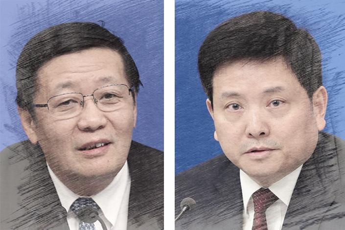 Lou Jiwei and Liu Wei