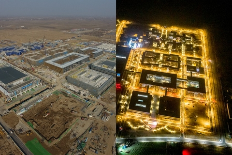 Before-and-after photos of the Citizens Service Center in Rongcheng. Photo: IC