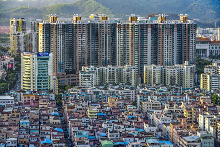Residential buildings in Chang'an town, Dongguan city, Guangdong province, May 16, 2018. Photo: VCG