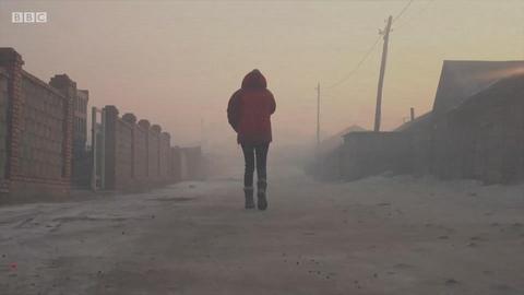 蒙古首都的严重空气污染
