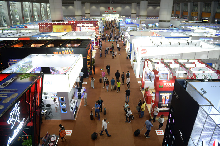 An exhibition at the 124th Canton Fair in Guangzhou, south China's Guangdong province, Oct. 17, 2018. Photo: IC
