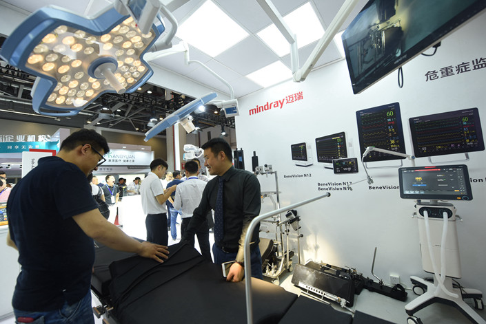A Mindray booth at a medical device conference in Hangzhou, East China's Zhejiang province, on Oct. 16. Photo: IC