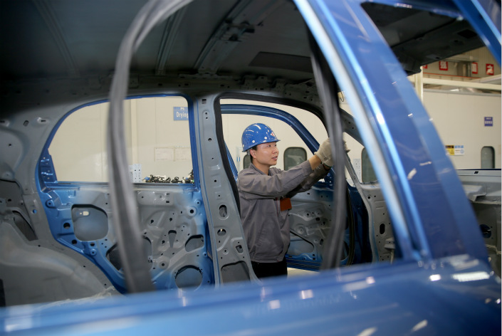 A new-energy car plant in Sanmenxia, Henan province on April 20. Photo: IC Photo
