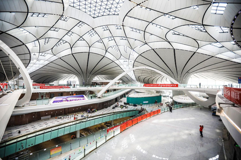 A view of the interior of Beijing Daxing International Airport. Photo: IC Photo