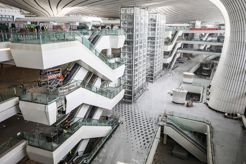 A view of the terminal hall of Beijing Daxing International Airport. Photo: IC Photo