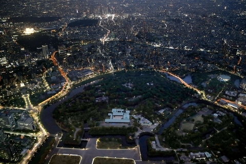 Imperial Palace is seen from above on Monday. Photo: IC Photo