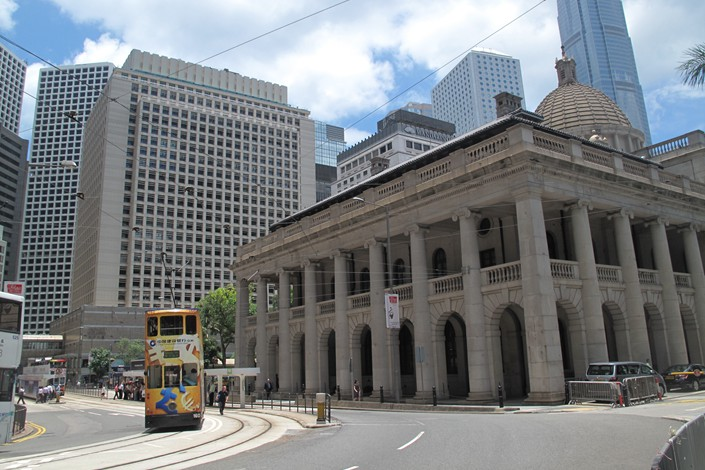 Legislative Council building in Hong Kong's Central District. Photo: IC Photo