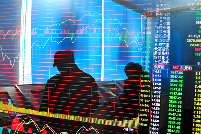 The CSI 300 index is up 22% this year from its low on Jan. 3. Photo: IC Photo