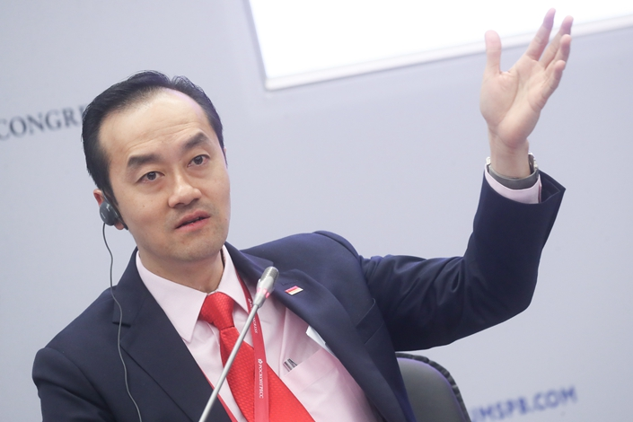 Singapore's Senior Minister of State for Trade and Industry Koh Poh Koon speaks at a panel discussion at the 2018 St. Petersburg International Economic Forum in St. Petersburg in May 2018. Photo: IC Photo