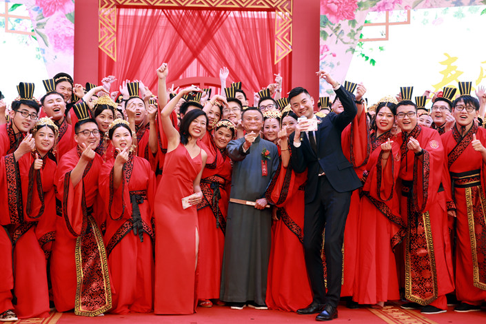 Alibaba held its 14th Ali Day mass wedding ceremony in Hangzhou, Zhejiang province on May 10. Photo: IC Photo