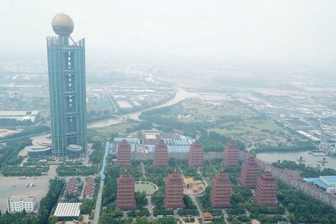 The Long Wish Hotel, a 328-meter tall tower in Huaxi, was once the eighth-tallest building in the world. Photo: IC Photo