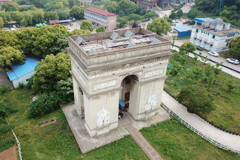 A replica of Paris's Arc de Triomphe in Huaxi. Photo: IC Photo